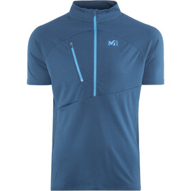 Millet Elevation Short Sleeve Zip Shirt Herre poseidon